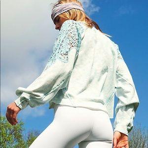 Free People Sun & Done Sweatshirt - Icy Blue - NWT